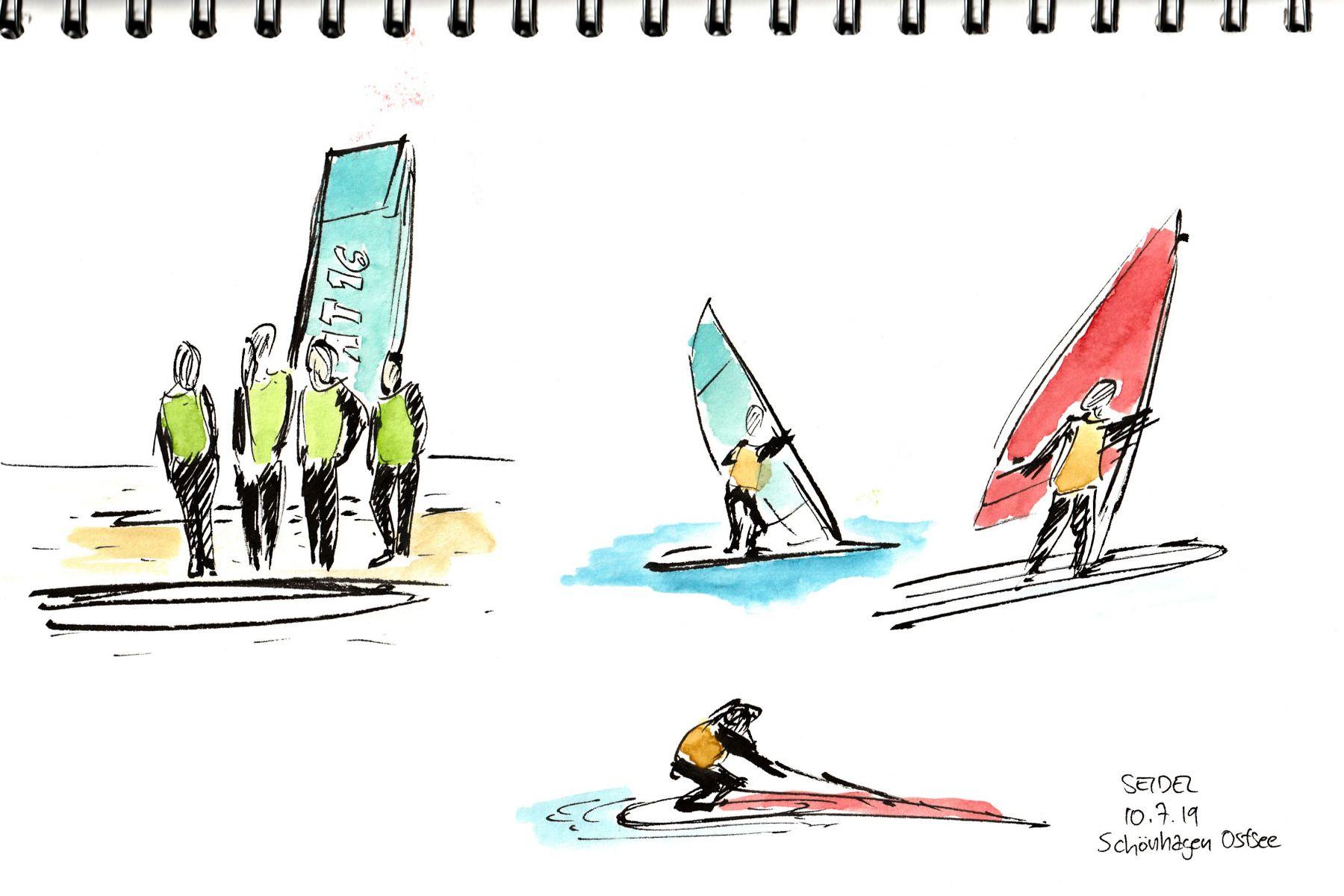 Ostsee-windsurfer